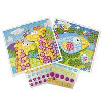 Artzooka! Bird & Giraffe - Sticky Button Mosaic Craft Kit