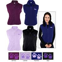 Women's Paw Print Fleece Vest
