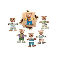 Ernest Moody Bear Puzzle - Schylling Expressions Wooden Puzzle