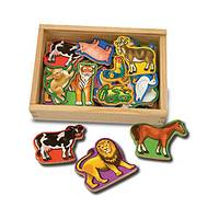Wooden Magnetic Animals in a Box