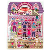Dress-Up Puffy Stickers - Melissa & Doug 3-Dimension Stickers Play Set Doll House