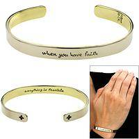 When You Have Faith Cuff Bracelet