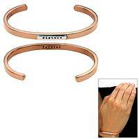 Sisters Forever Copper & Sterling Stackable Cuff Bracelet