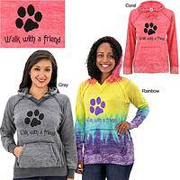 Walk With A Friend Dyed Hooded Sweatshirt