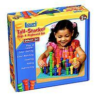 Tall Stacker™ Pegs & Pegboard Deluxe Set