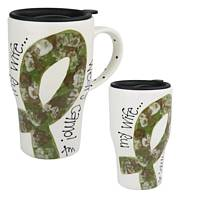 My Wife Wears Camo Travel Mug - Keep it Real Coffee Latte Travel Cup for Army Husbands