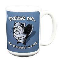 Excuse Me Squirrel Mug - Cheeky Fellow Amusing Coffee Cup