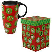 Naughty or Nice  - Christmas Cat Travel Mug and Gift Box