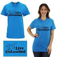 Live Unleashed Dog T-Shirt