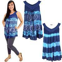 Blue Waters Sleeveless Flared Top