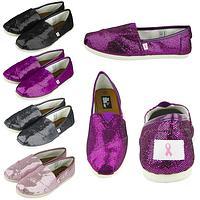 Greg's Pink Ribbon Glitter Canvas Shoes