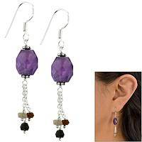 Amethyst & Tourmaline Earrings