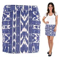 Cotton Ikat Mini Skirt