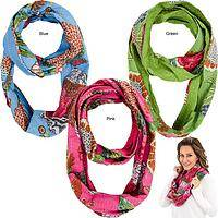 Bright Hand Stitched Kantha Infinity Scarf