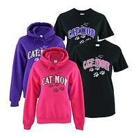 Cat Mom Sweatshirt & T-Shirt Combo