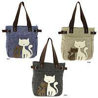 Cat Luxe Accents Canvas Tote B