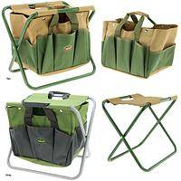 Canvas Tool Bag & Folding Stool Carry-All
