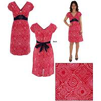 Hand Block Print Crescent Dress