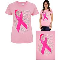 Faith Hope Cure Pink Ribbon Tee