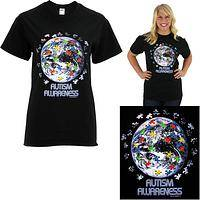 Earth Autism Awareness T-Shirt
