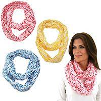 Support a Woman's Freedom! - Destiny Dots Infinity Scarf of Feather Weight Cotton