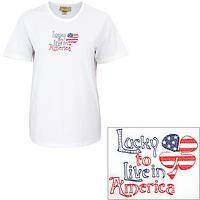 Lucky to Live in America Tee