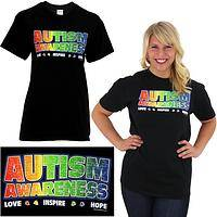 Love Inspire Hope Autism Awareness T-Shirt