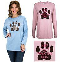 Keep Calm & Walk The Dog Long Sleeve T-Shirt
