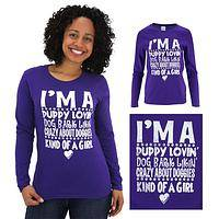 I'm A Puppy Lovin Kind of Girl Long Sleeve Tee