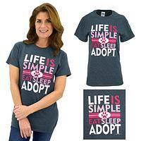 Life is Simple Adopt T-Shirt
