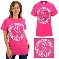 Hope Strength Survive Pink Ribbon T-Shirt