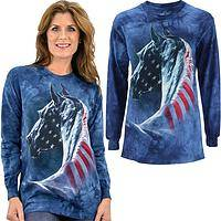 Patriotic Horse Long Sleeve T-Shirt