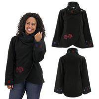 Paws Amore Fleece Wrap Around Jacket