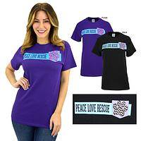 Peace Love Rescue Pocket T-Shirt