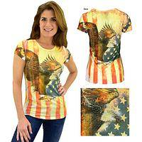 Old Glory Eagle Rhinestone Tee