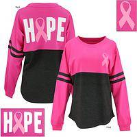Pink Ribbon Hope Oversized Long Sleeve Tee