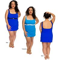 Plus-Size Classic A-Line Swim Dress