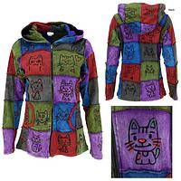 The Cat's Meow Patchwork Hooded Jacket