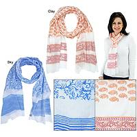 Delicate Touch - Block Printed Lightweight Scarf