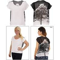 Tree of Life Sheer Back Tee