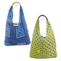 Ugandan Fresh Print Hobo Bag