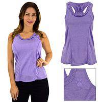 Purple Paw Swirl Ruffle Tank Top