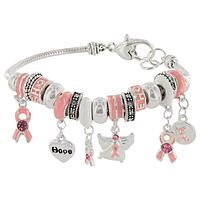 Charmed Life Pink Ribbon Bracelet