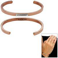 Friends Forever Copper & Sterling Stackable Cuff Bracelet
