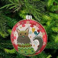 Bird on a Dog Tail Ornament