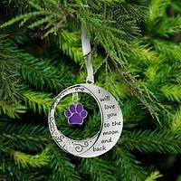 Love You to the Moon & Back Paw Ornament