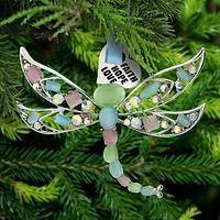 Cat's Eye Dragonfly Ornament