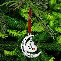 Moon & Back Autism Ornament