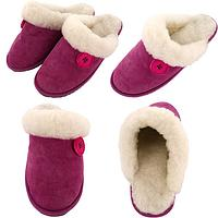 Pretty in Pink Suede Slippers