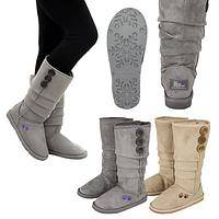 Purple Paw Slouch Boots